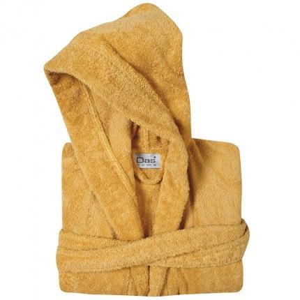 Μπουρνούζι Με Κουκούλα Das Home Soft Casual 1447 Κιτρινο