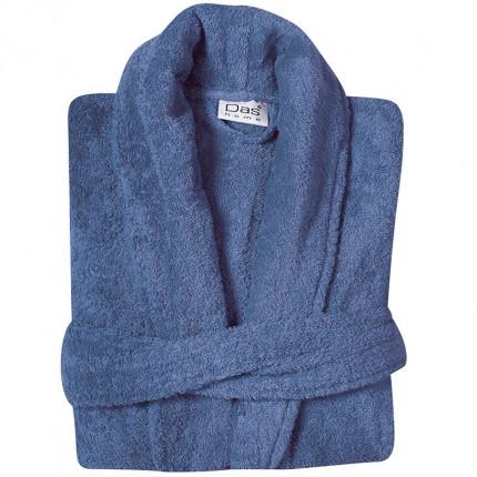 Μπουρνούζι Με Γιακά Das Home Soft Happy 1459 Μπλε
