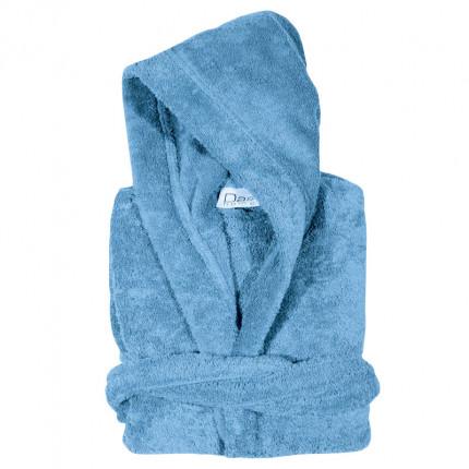 Μπουρνούζι Με Κουκούλα Medium Das Home Soft Casual 1466 Γαλάζιο