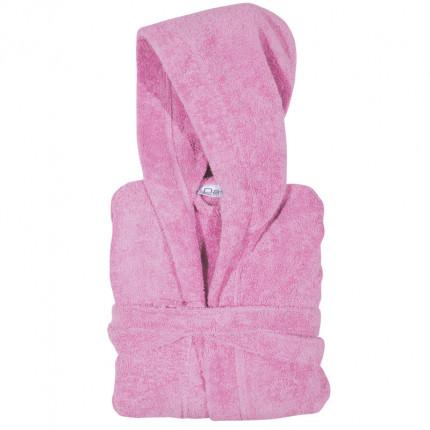Μπουρνούζι Με Κουκούλα Das Home Soft Casual 1468 Ροζ