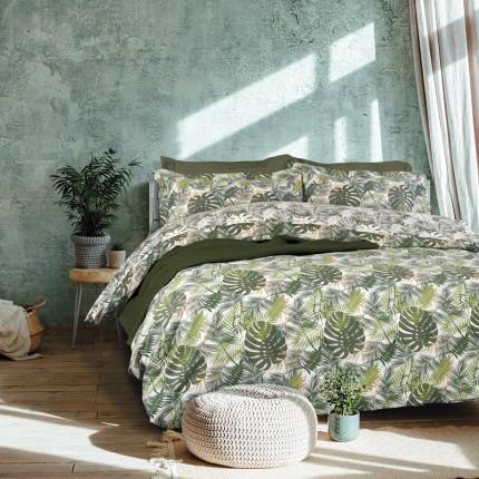 Σεντόνια Υπέρδιπλα (Σετ) 230X260 Das Home Best 4714 Πράσινο Χωρίς Λάστιχο