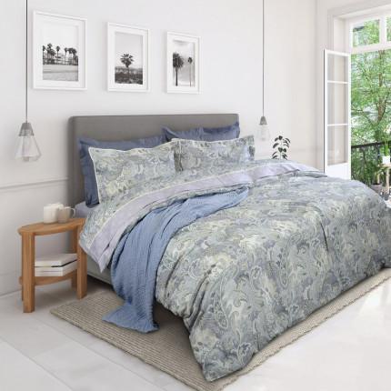 Σεντόνια Υπέρδιπλα (Σετ) 230X260 Das Home Prestige 1621 Μπλε Χωρίς Λάστιχο