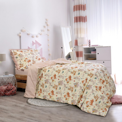 Σεντόνια Μονά (Σετ) 170x260 Das Home Kid 4702 Μπεζ-Σομον Χωρίς Λάστιχο