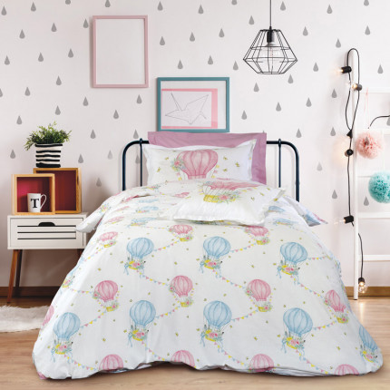 Σεντόνια Μονά (Σετ) 170X260 Das Home Kid 4716 Ροζ Χωρίς Λάστιχο