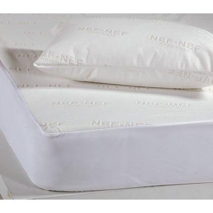 Αδιάβροχο Επίστρωμα Μονό 100x200+30 Nef Nef White Linen Ζακαρ/Pu Λευκό