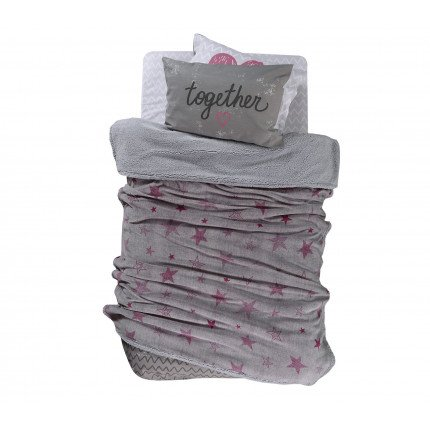 Κουβέρτα Μονή 160x220 Nef Nef Fleece Astro Pink