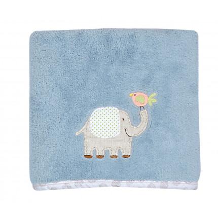Κουβέρτα Πικέ Κούνιας 110x150 Nef Nef Κεντητή Jungle Time Γαλάζιο