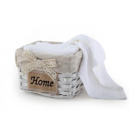 Καλαθάκι Με Λαβέτες (Σετ) 30x30 Nef Nef Home 200-White