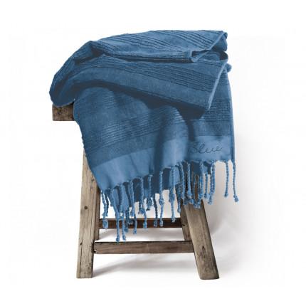 Πετσετα Θαλασσης Παρεο Κροσι 90x170 Nef Nef Blue Belinda Μπλε