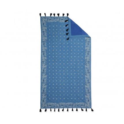 Πετσετα Θαλασσης Παρεο Κροσι 90x170 Nef Nef Τυπωτη Bandana Blue