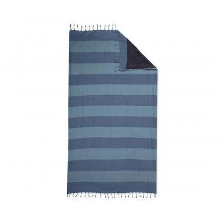 Πετσέτα-Παρεό 90x170 Nef Nef Τυπωτη Nautic Μπλε