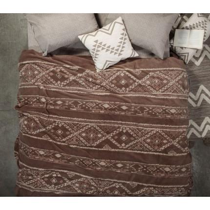 Κουβέρτα Fleece Υπέρδιπλη 240x220 Nef Nef Fleece Gana Taupe