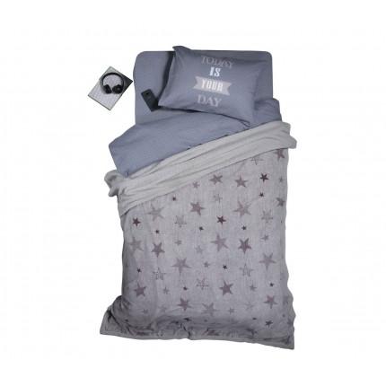 Κουβέρτα Fleece Μονή Με Γουνάκι 160x220 Nef Nef Fleece Astro Silver Grey