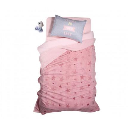 Κουβέρτα Fleece Μονή Με Γουνάκι 160x220 Nef Nef Fleece Astro Pink