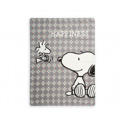 Κουβέρτα Fleece Κούνιας 110x140 Nef Nef Fleece Snoopy Happiness