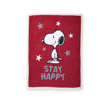 Ριχτάρι Πολυθρόνας 130x170 Nef Nef Snoopy Be Happy