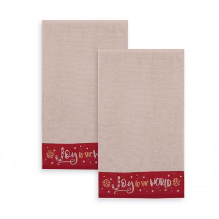 Πετσέτες (Σετ 2 Τμχ) 30x50 Nef Nef Joy To The World