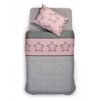 Κουβερλί Μονό 160x220 Nef Nef Teens Super Star Pink