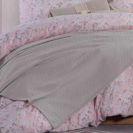 Κουβέρτα Πικέ Υπέρδιπλη 230x240 Nef Nef Summer Silver Grey