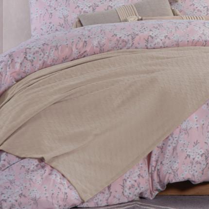Κουβέρτα Πικέ Υπέρδιπλη 230x240 Nef Nef Summer Beige