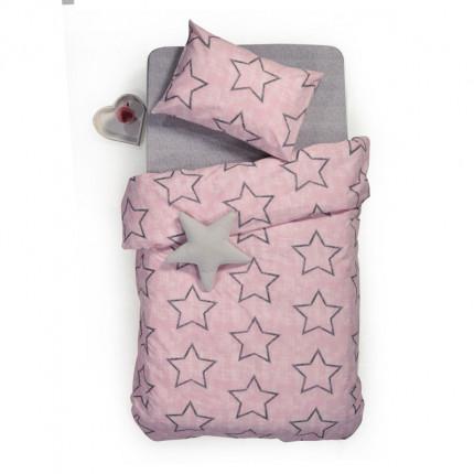 Σεντόνια Μονά (Σετ) 160x260 Nef Nef Teens Super Star Pink