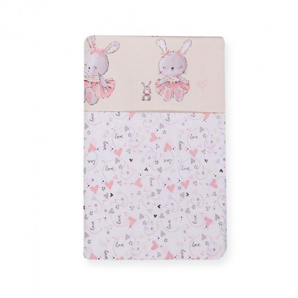 Σεντόνια Λίκνου (Σετ) 70x120 Nef Nef Bunny Ladies Pink