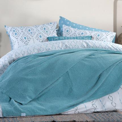 Κουβέρτα Πικέ Υπέρδιπλη 230x240 Nef Nef Blue Ocean Blue
