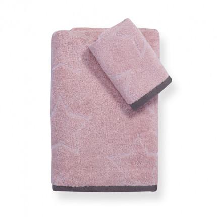 Παιδικές Πετσέτες (Σετ 2 Τμχ) Nef Nef Teens Super Star Pink