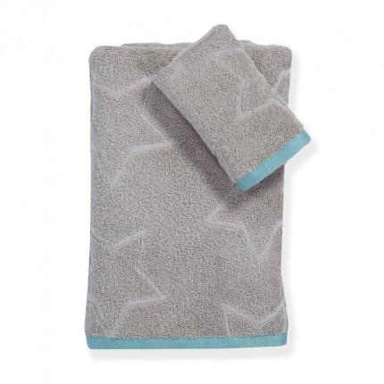 Παιδικές Πετσέτες (Σετ 2 Τμχ) Nef Nef Teens Super Star Grey