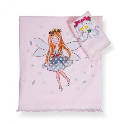 Παιδικές Πετσέτες (Σετ 2 Τμχ) Nef Nef Swan Love