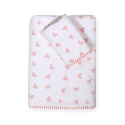 Βρεφικές Πετσέτες (Σετ 2 Τμχ) Nef Nef Bunny Ladies Pink