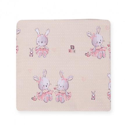 Κουβέρτα Πικέ Αγκαλιάς 75X110 Nef Nef Bunny Ladies Pink