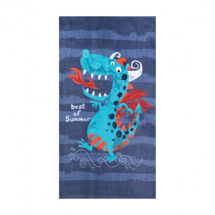 Παιδική Πετσέτα Θαλάσσης 70x120 Nef Nef Beach Dragon