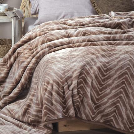 Κουβέρτα Βελουτέ Υπέρδιπλη 220x240 Nef Nef Visual Beige