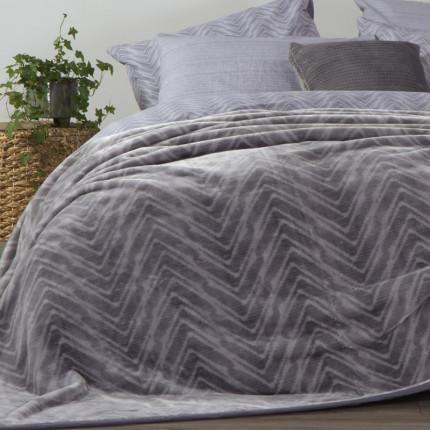Κουβέρτα Βελουτέ Υπέρδιπλη 220x240 Nef Nef Visual Grey