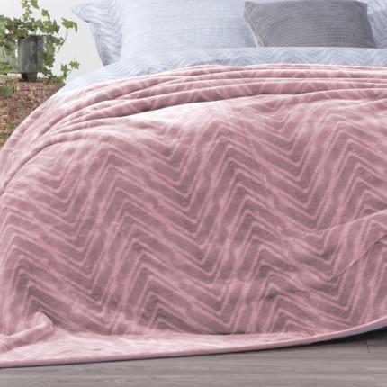 Κουβέρτα Βελουτέ Υπέρδιπλη 220x240 Nef Nef Visual Pink