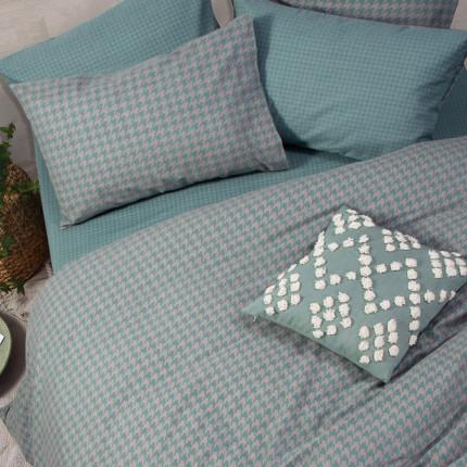 Παπλωματοθήκη Φανελένια Μονή (Σετ) 160x230 Nef Nef Flannel Honest Green