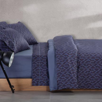Παπλωματοθήκη Υπέρδιπλη (Σετ) 240x230 Nef Nef Elements Sebastian Blue