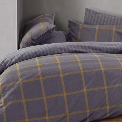 Σεντόνια Φανελένια Υπέρδιπλα (Σετ) 240x260 Nef Nef Flannel Walace Grey Χωρίς Λάστιχο