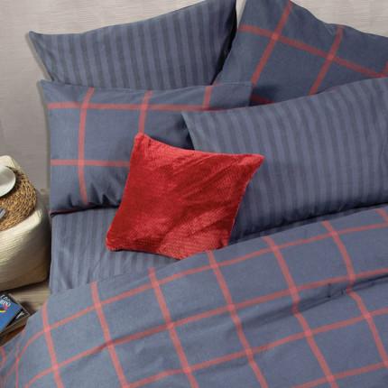 Σεντόνια Φανελένια Υπέρδιπλα (Σετ) 240x260 Nef Nef Flannel Walace Blue Χωρίς Λάστιχο