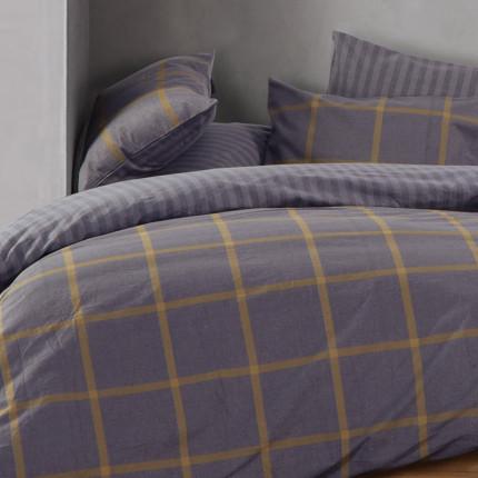 Παπλωματοθήκη Φανελένια Μονή (Σετ) 160x230 Nef Nef Flannel Walace Grey
