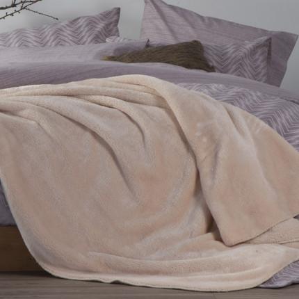 Κουβέρτα Fleece Μονή 160x220 Nef Nef Nasty Natural