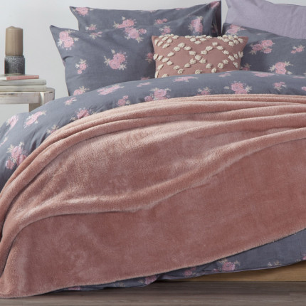 Κουβέρτα Fleece Μονή 160x220 Nef Nef Nasty Pink