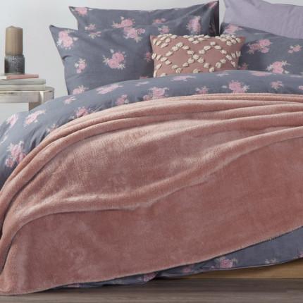 Κουβέρτα Fleece Υπέρδιπλη 240x220 Nef Nef Nasty Pink