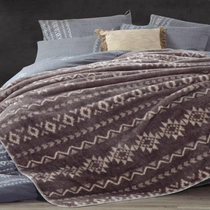 Κουβέρτα Fleece Μονή 160x220 Nef Nef Benjamin Grey