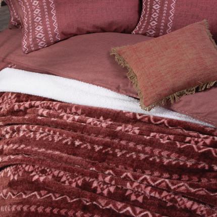 Κουβέρτα Fleece Μονή 160x220 Nef Nef Benjamin Bordo