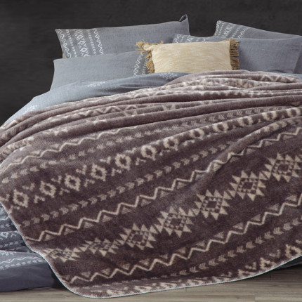 Κουβέρτα Fleece Υπέρδιπλη 240x220 Nef Nef Benjamin Grey