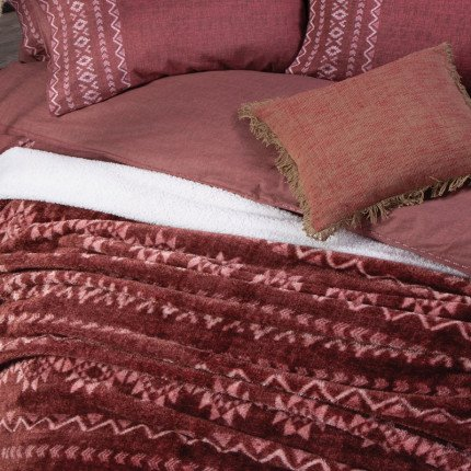 Κουβέρτα Fleece Υπέρδιπλη 240x220 Nef Nef Benjamin Bordo