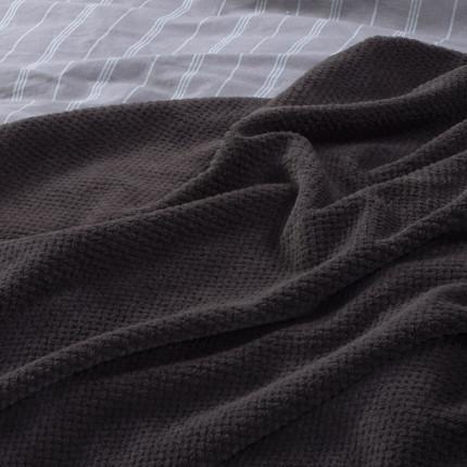 Κουβέρτα Fleece Μονή 160x220 Nef Nef Record Grey