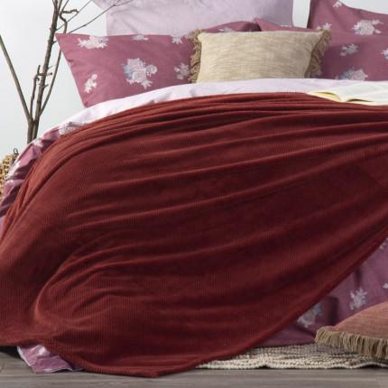 Κουβέρτα Fleece Υπέρδιπλη 240x220 Nef Nef Record Bordo